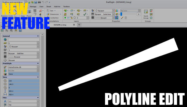 DraftSight Professional 2017 and Polyline Editing