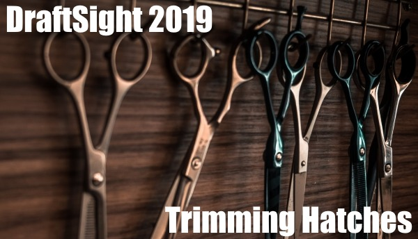 DraftSight 2019 – Trimming Hatches