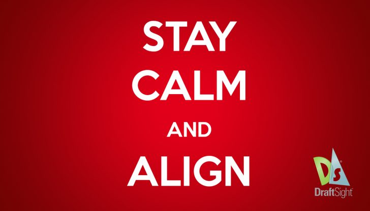 DraftSight: Stay Calm and Align