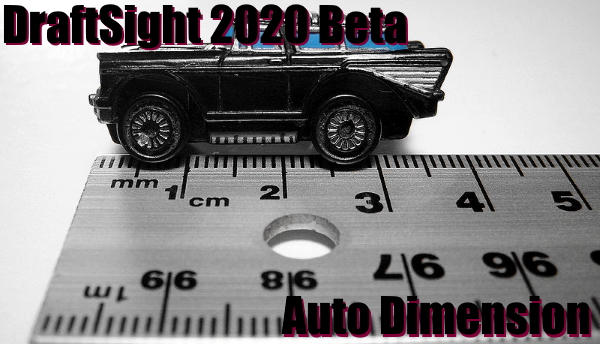 Auto Dimension in DraftSight 2020 Beta