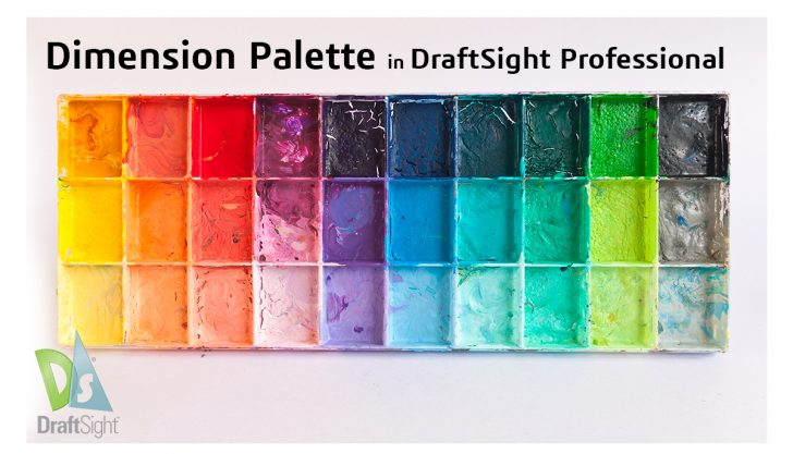 Dimension Palette in DraftSight Professional