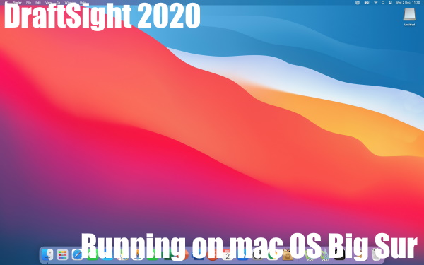 DraftSight 2020 Professional on mac OS Big Sur
